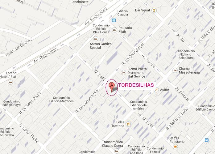 mapa tordesilhas