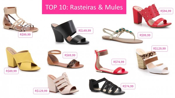 Top 10 rasteiras e mules