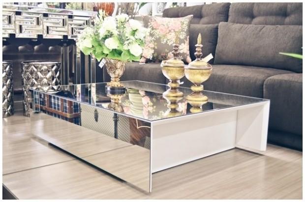 decoração sala de estar mesa de espelho giuli castro