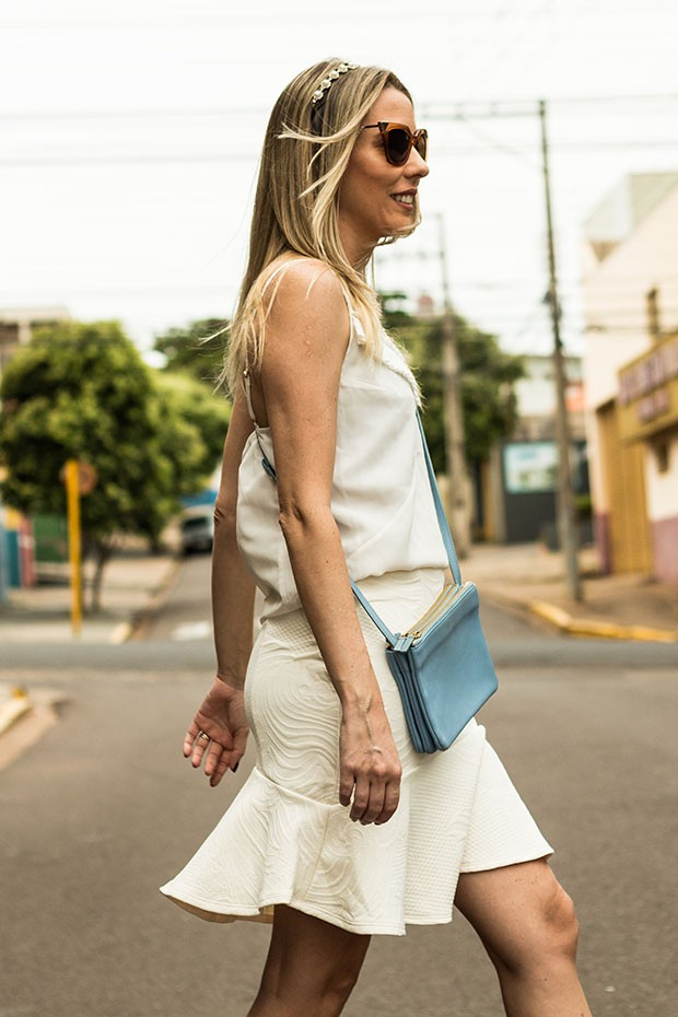 meu look monocromatico all white Giuli Castro