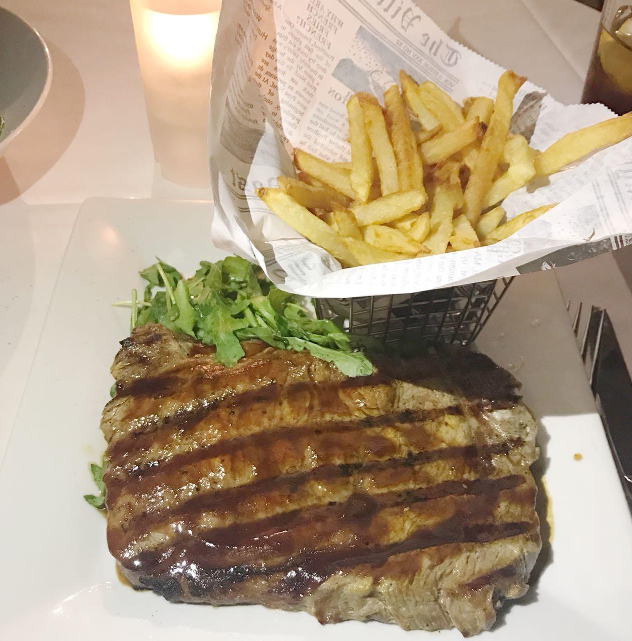 Steak com Fritas do Bryant Park Grill em NYC - Giuli Castro