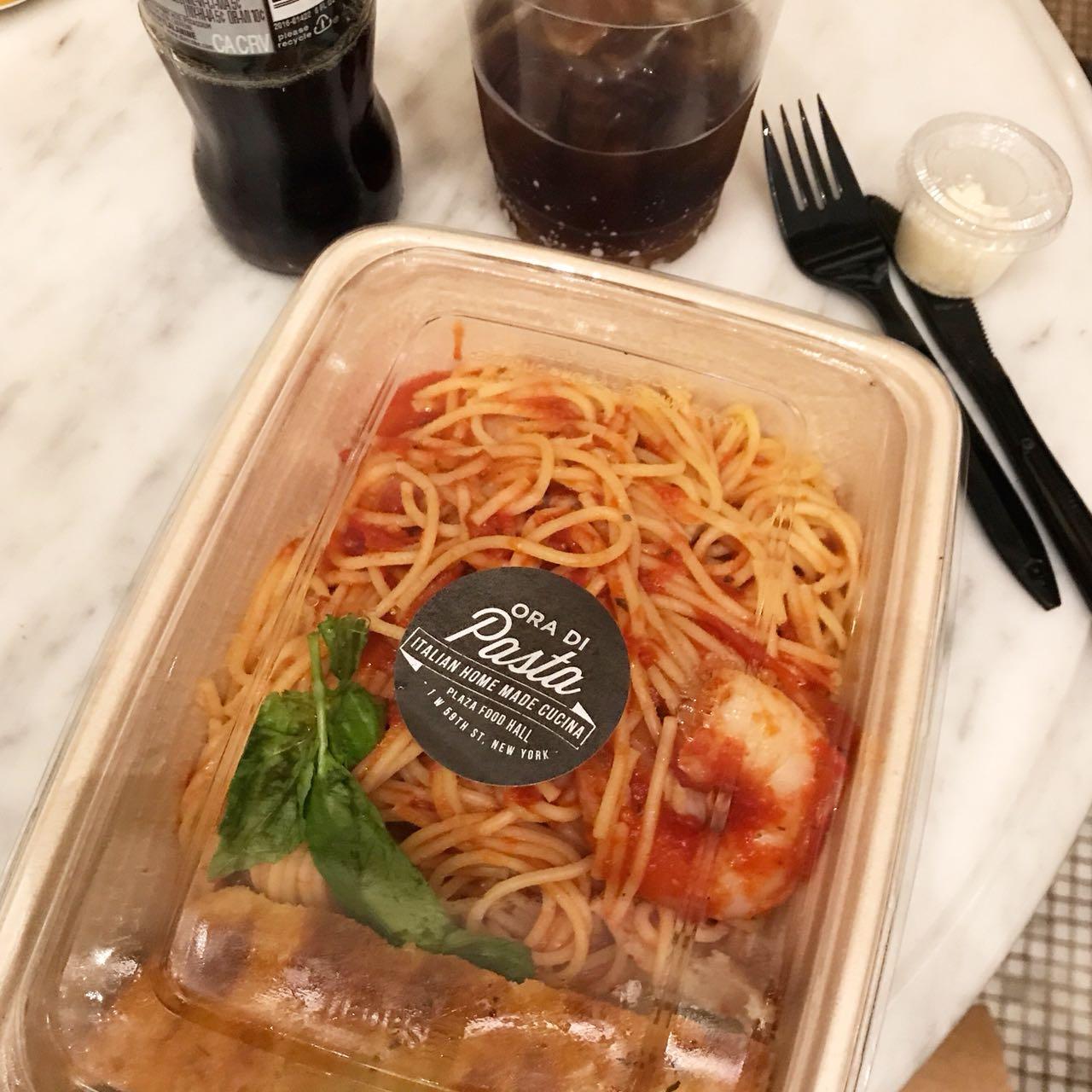 Ori de Pasta no Food Hall do Plaza Hotem em NYc - Giuli Castro