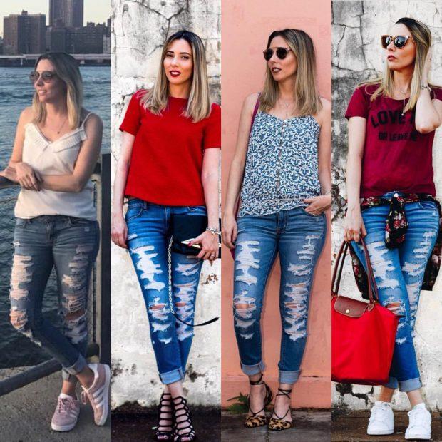 7 looks da Giuli Castro com a mesma calça jeans