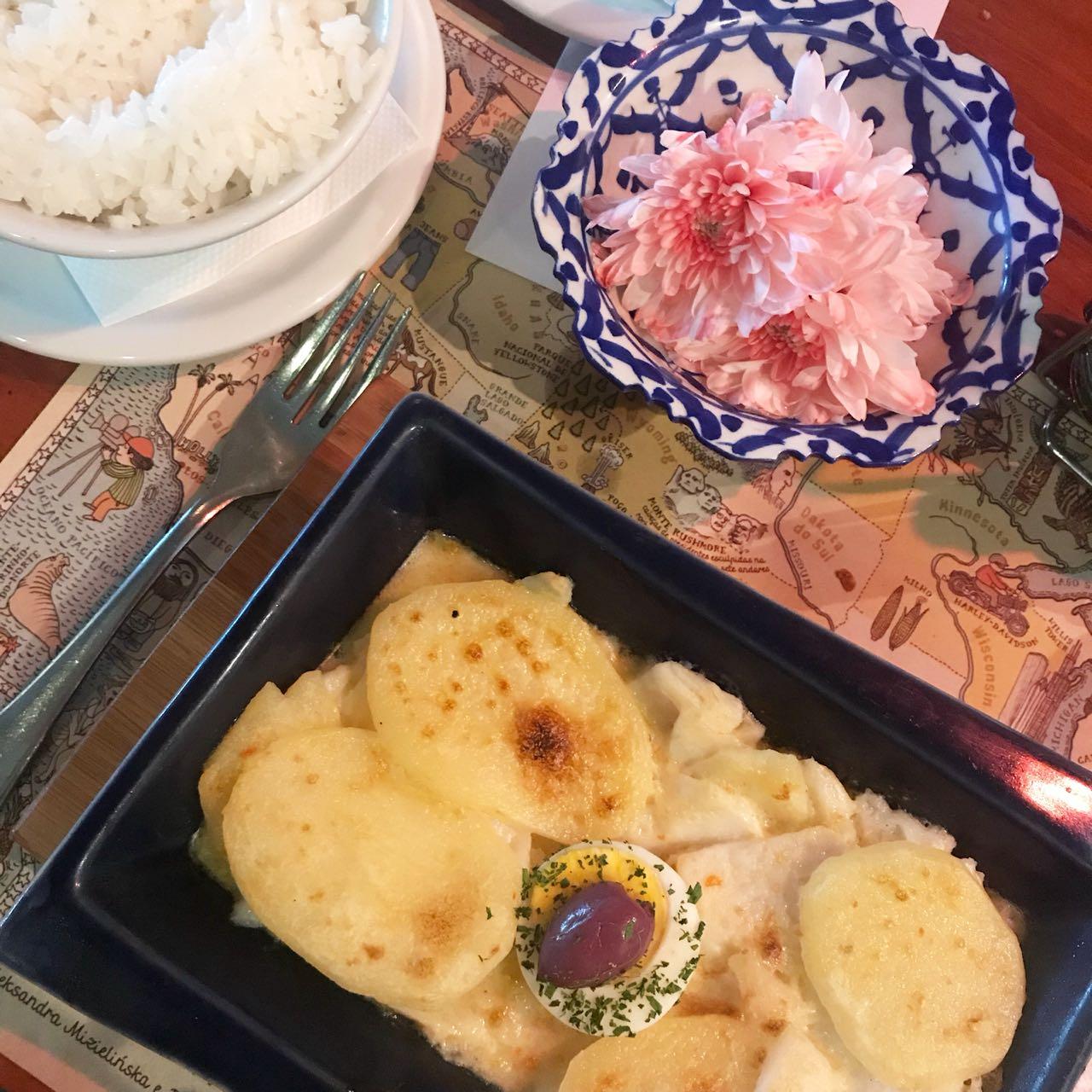 Bacalhau Gratinado do Restaurante Mestiço em SP - Giuli Castro