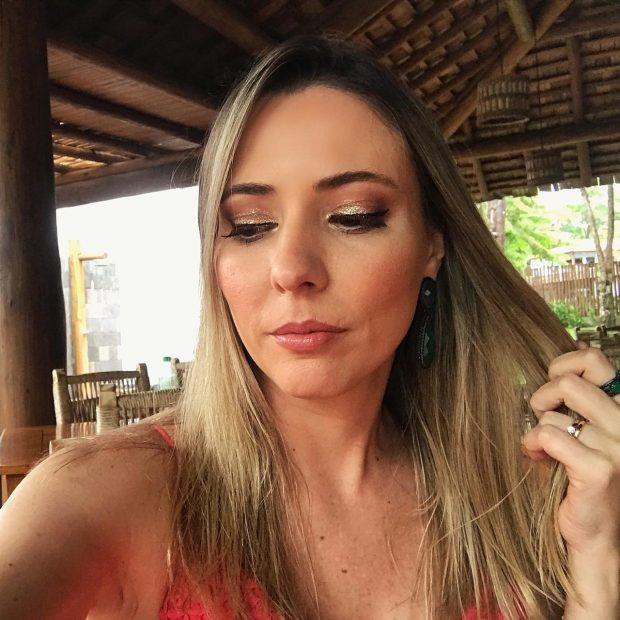 maquiagem glitter casamento na praia Giuli Castro